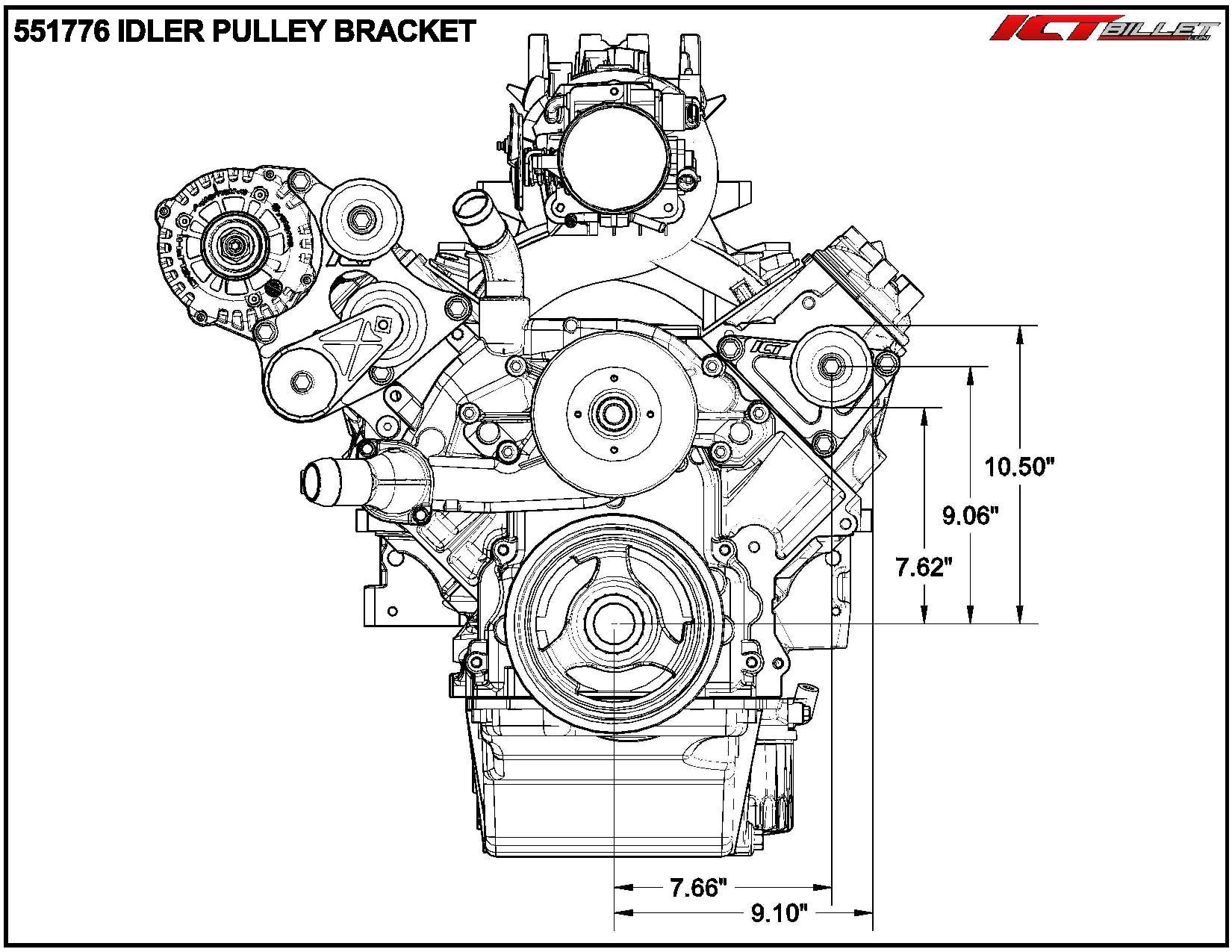 ls idler pulley bracket
