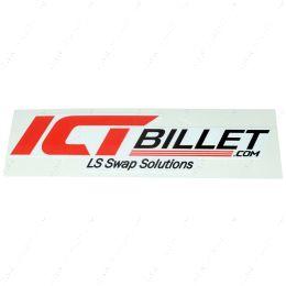 """45STCKR ICT Billet Sticker 4.5"""" Red / White Decal"""
