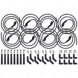 551083 LS LT Swap Universal Spark Plug Wire Set Remote Coil Spiral Core Straight 90 135