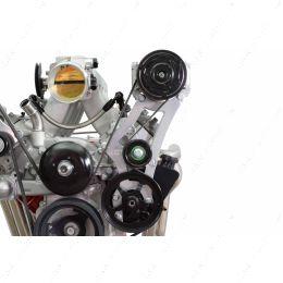 551127-3 LS Swap 96-98 Vortec Truck HT6 A/C Compressor Power Steering Bracket LS1 LS3 LSX