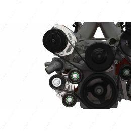 551137-LS71-3 LS Sanden 7176 A/C Compressor Bracket Kit Tight Fit Low Mount LQ4 L33 AC Turbo