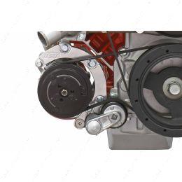 551137-LS74-1 LS Corvette - Low Mount 4-Rib A/C Compressor Bracket Sanden 7176 LS1 LS3 LS2 AC