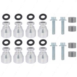 551287-LS-022 Fuel Injector Spacer Set of 8 LS2 Intake Manifold to LS Truck Injector Adapter