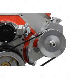 551421 BBC Power Steering Pump Bracket - Electric Water Pump Billet Big Block Chevy 454
