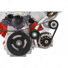 551667EWP-1 LS Low Mount Alternator Bracket for Electric Water Pump w/ Tensioner - Corvette