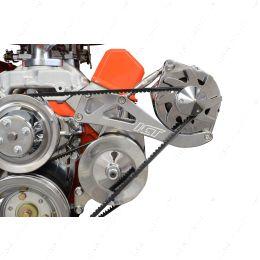 551705 SBC Drivers Side Alternator Bracket Adjustable Long Water Pump Small Block 350