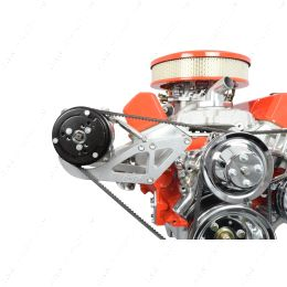 551775 SBC Sanden 508 A/C Compressor Bracket Long Water Pump Small Block 350 Chevy ICT