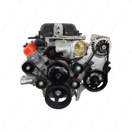 551787A-3 LS Truck LSA Supercharger Swap 6 rib Alternator and Power Steering Bracket Kit