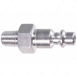 """551956-125NP 1/8"""" NPT Pipe Male Hose Testing Tool to 1/4"""" Air Compressor Hose Test Fitting"""