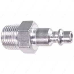 """551956-375NP 3/8"""" NPT Pipe Male Hose Testing Tool to 1/4"""" Air Compressor Hose Test Fitting"""