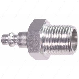 """551956-500NP 1/2"""" NPT Pipe Male Hose Testing Tool to 1/4"""" Air Compressor Hose Test Fitting"""