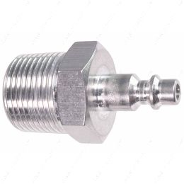 """551956-750NP 3/4"""" NPT Pipe Male Hose Testing Tool to 1/4"""" Air Compressor Hose Test Fitting"""