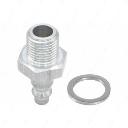 """551956-M16-15 Metric M16-1.5 Male to 1/4"""" Air Compressor Hose Industrial Quick Connect Leak Test Fitting"""