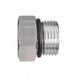 AN814-10A -10AN ORB Straight Thread Plug Male Nut Block Off Cap Fitting Aluminum