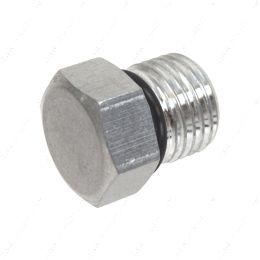 AN814-06A -6AN ORB Straight Thread Plug Male Nut Block Off Cap Fitting Aluminum