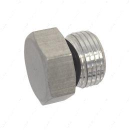 AN814-08A -8AN ORB Straight Thread Plug Male Nut Block Off Cap Fitting Aluminum