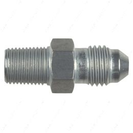 """AN816-04-02A Straight -4AN Flare Male to 1/8""""NPT Pipe Adapter Fitting 4 AN Bare Aluminum"""