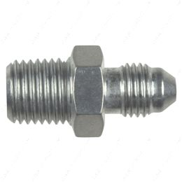 """AN816-04-04A Straight -4AN Flare Male to 1/4""""NPT Pipe Adapter Fitting 4 AN Bare Aluminum"""