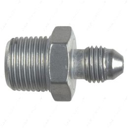 """AN816-04-06A Straight -4AN Flare Male to 3/8""""NPT Pipe Adapter Fitting 4 AN Bare Aluminum"""
