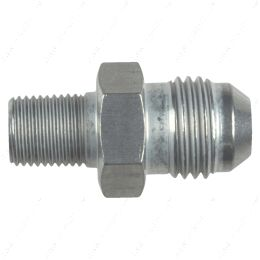 """AN816-06-02A Straight -6AN Flare Male to 1/8""""NPT Pipe Adapter Fitting 6 AN Bare Aluminum"""