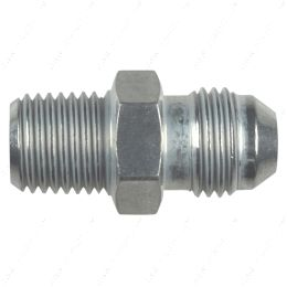 """AN816-06-04A Straight -6AN Flare Male to 1/4""""NPT Pipe Adapter Fitting 6 AN Bare Aluminum"""