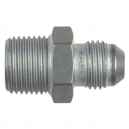 """AN816-06-06A Straight -6AN Flare Male to 3/8""""NPT Pipe Adapter Fitting 6 AN Bare Aluminum"""