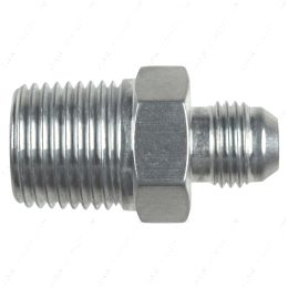 """AN816-06-08A Straight -6AN Flare Male to 1/2""""NPT Pipe Adapter Fitting 6 AN Bare Aluminum"""