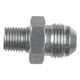 """AN816-08-04A Straight -8AN Flare Male to 1/4""""NPT Pipe Adapter Fitting 8 AN Bare Aluminum"""