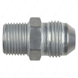 """AN816-08-06A Straight -8AN Flare Male to 3/8""""NPT Pipe Adapter Fitting 8 AN Bare Aluminum"""