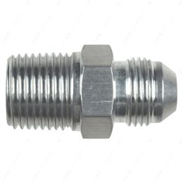 """AN816-08-08A Straight -8AN Flare Male to 1/2""""NPT Pipe Adapter Fitting 8 AN Bare Aluminum"""
