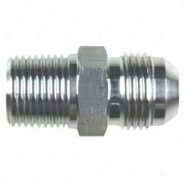 """AN816-10-08A Straight -10AN Flare Male to 1/2""""NPT Pipe Adapter Fitting 10 AN Bare Aluminum"""