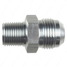 """AN816-12-08A Straight -12AN Flare Male to 1/2""""NPT Pipe Adapter Fitting 12 AN Bare Aluminum"""