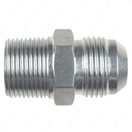 """AN816-12-12A Straight -12AN Flare Male to 3/4""""NPT Pipe Adapter Fitting 12 AN Bare Aluminum"""