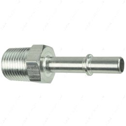 """AN817-02-08 3/8"""" Quick Connect Male Fuel Hose to 1/2"""" NPT Adapter Fitting LS LS1 LS3 GM"""