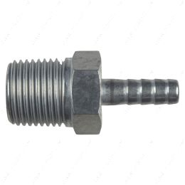 """AN840-05-08A Straight 1/2"""" NPT Pipe to 5/16"""" .3125"""" Hose Barb Fitting Bare Aluminum"""