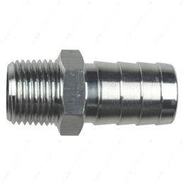 """AN840-10-06A Straight 3/8"""" NPT Pipe to 5/8"""" .625"""" Hose Barb Fitting Bare Aluminum"""