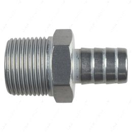 """AN840-10-12A Straight 3/4"""" NPT Pipe to 5/8"""" .625"""" Hose Barb Fitting Bare Aluminum"""