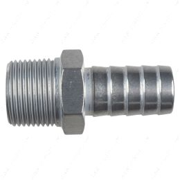 """AN840-12-12A Straight 3/4"""" NPT Pipe to 3/4"""" .750"""" Hose Barb Fitting Bare Aluminum"""