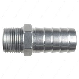 """AN840-16-12A Straight 3/4"""" NPT Pipe to 1"""" Hose Barb Fitting Bare Aluminum"""