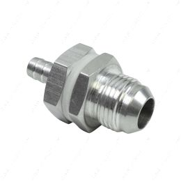 """AN861-10-37A -10AN Straight to 3/8"""" Hose Barb Double Fuel Pump Tank Fitting Bulkhead Adapter"""
