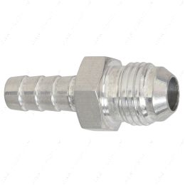 """F06AN312BA-A -6AN Flare to 5/16"""" (.3125) Hose Barb Adapter Fitting Aluminum Flare"""