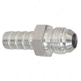 """F06AN375BA-A -6AN Flare to 3/8"""" (.375) Hose Barb Adapter Fitting Aluminum Flare"""