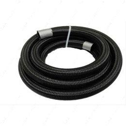 FRA-840008-BL 1 Foot Length - Fragola - 8AN, Black Nylon Braided Hose