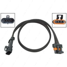 """WE0XY30-24 O2 Sensor Wire Harness Extension 24"""" LS Oxygen Sensor Flat 4-Wire Connector Plug"""