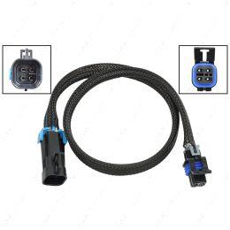 "WE0XY31-24 O2 Sensor Wire Harness Extension 24"" LS Oxygen Sensor Square 4 Wire 1Key Plug"