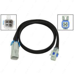 "WE0XY32-24 O2 Sensor Wire Harness Extension 24"" LS Oxygen Sensor Square 4 Wire 2 Key Plug"