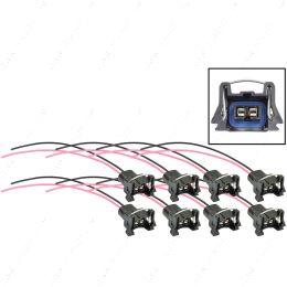 WPINJ30X8 LS EV1 LS1 Injector Wire Connector Harness Pigtail Plug Minitimer / Jetronic 8pc