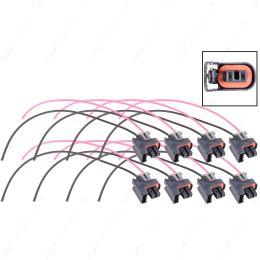 WPINJ31X8 LS Truck Fuel Injector Wire Connector Pigtail Plug Mini Delphi Multec 2 (8 pack)