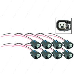 WPINJ40X8 LS EV6 LS3 Injector Wire Connector Harness Pigtail Plug USCAR (8 pack)