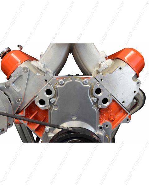 LS Remote Mount Water Pump Adapter Plate -12AN ORB LS1 LSX Camaro